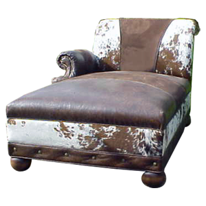 Chaise lounges jorge kurczyn western furniture for Chaise lounge cowhide